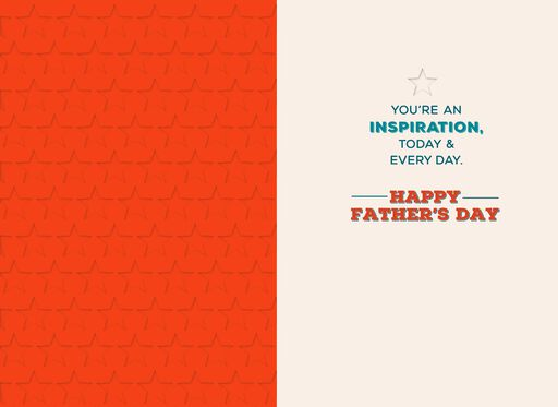 Dad, You're an Inspiration Father's Day Card,