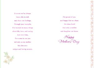 Proud of Our Special Relationship Mother's Day Card