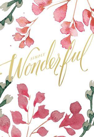 Simply Wonderful Birthday Card
