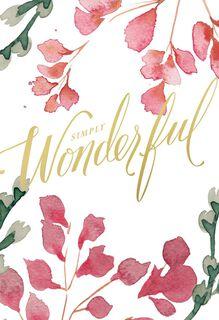 Simply Wonderful Birthday Card,