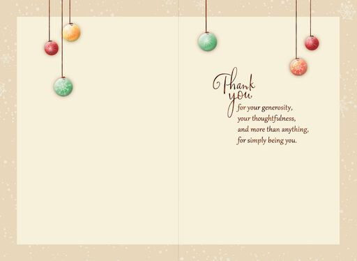 Ornament Tree Holiday Thank You Card,