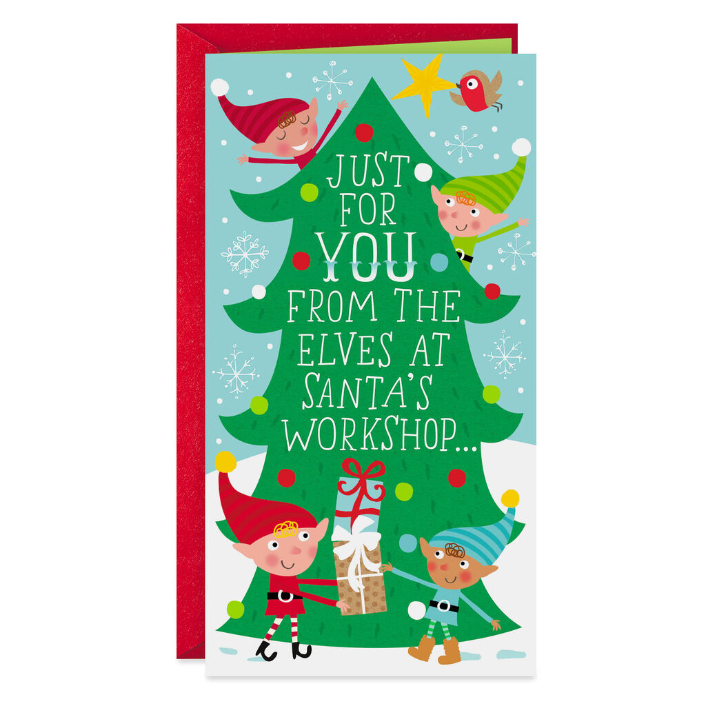 Christmas Greeting Cards.Diy Stocking Stuffer Money Holder Christmas Card