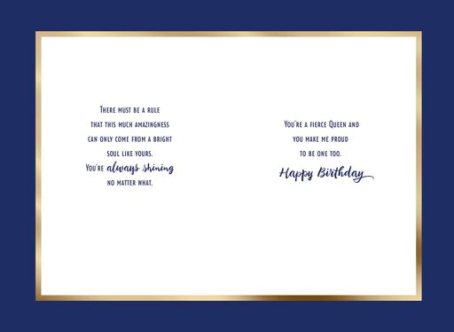 Jill Scott Fierce Queen Birthday Card,