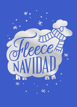 Fleece Navidad Christmas Card