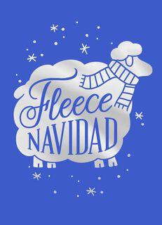 Fleece Navidad Christmas Card,