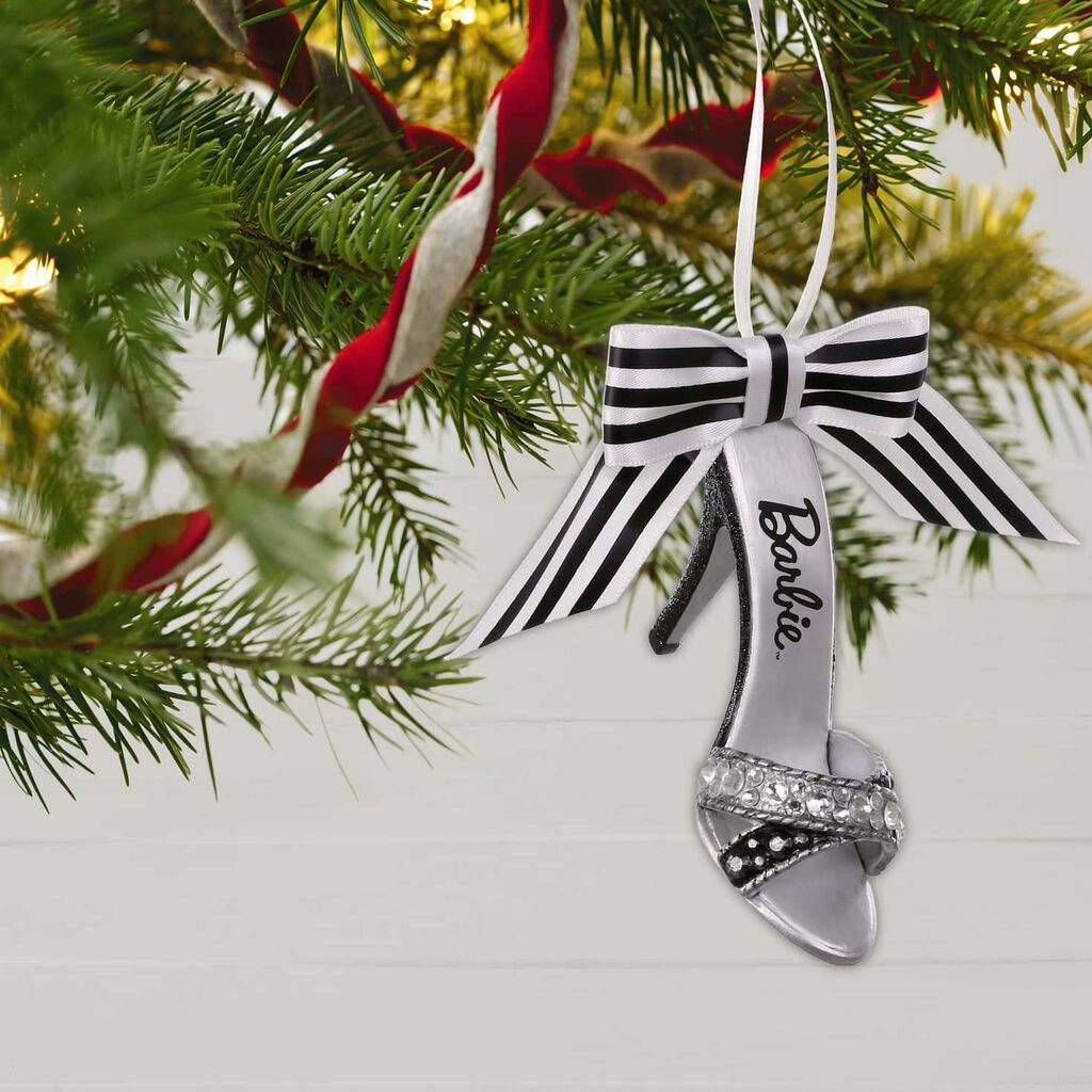 Barbie Christmas Tree Decorations.Shoe Sational Barbie 60th Anniversary Special Edition Metal Ornament