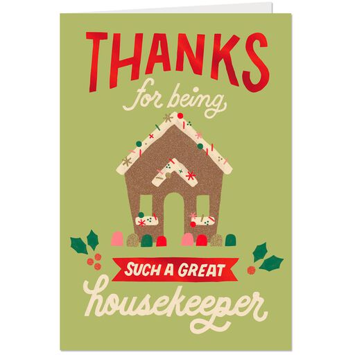 You Sparkle Every Season Christmas Card For Housekeeper