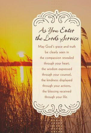 Nature's Sunset Joining the Ministry Congratulations Card