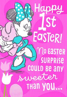 Minnie Mouse First Easter Card for Baby Girl,