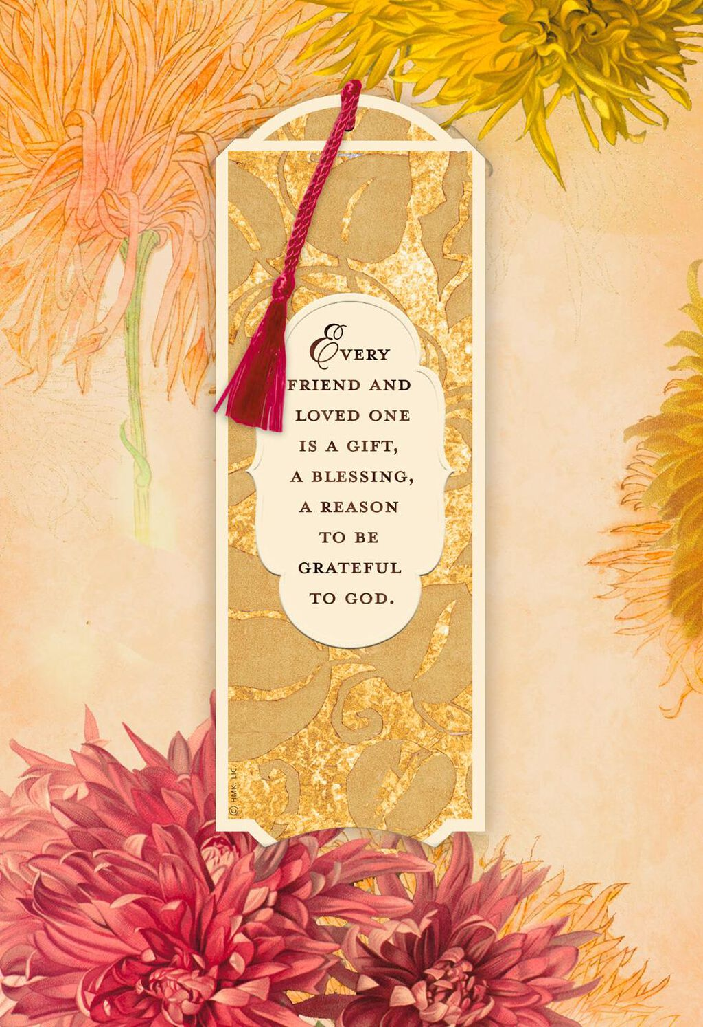 Every Friend And Loved One Is A Gift Thanksgiving Card With Bookmark