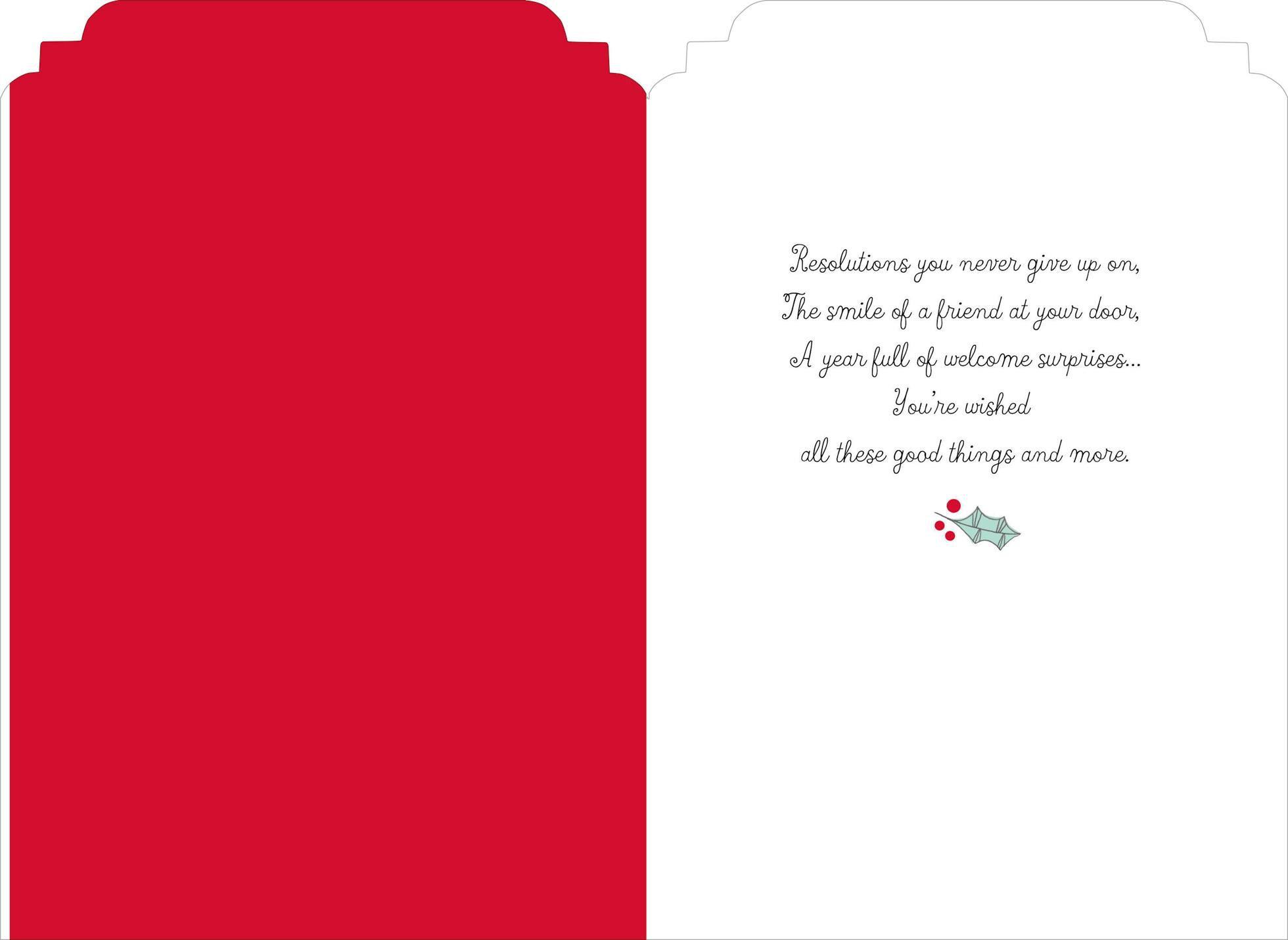 a new year card