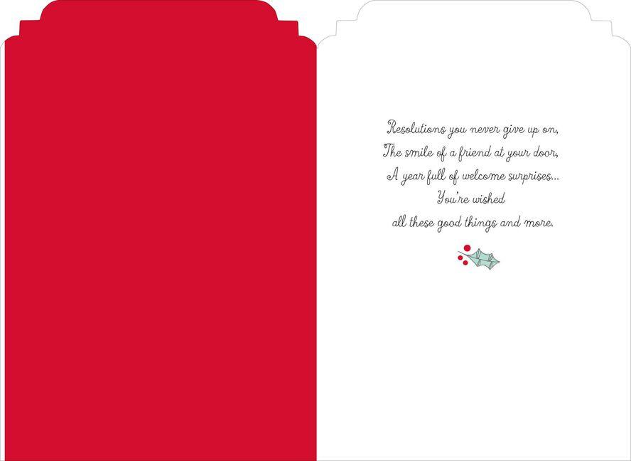 holiday wreath new year card holiday wreath new year card