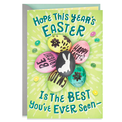 Eggs And Jelly Beans Best Yet Easter Card