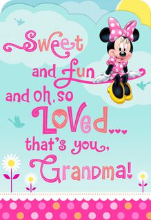Sweet and Fun Minnie Mouse Mother's Day Card for Grandma,