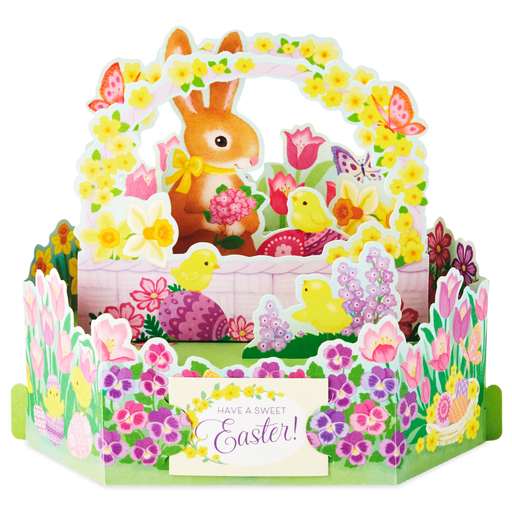 Bunny And Chicks Pop Up Easter Card