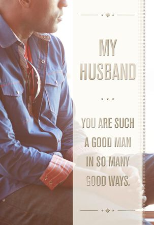 Such a Good Man Father's Day Card for Husband