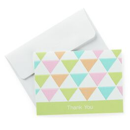 Multicolored Triangle Baby Thank You Notes, Pack of 20, , large