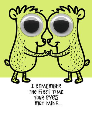 Googly Eyed Couple Anniversary Card