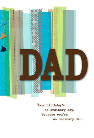 Loved, Admired and Celebrated Birthday Card for Dad