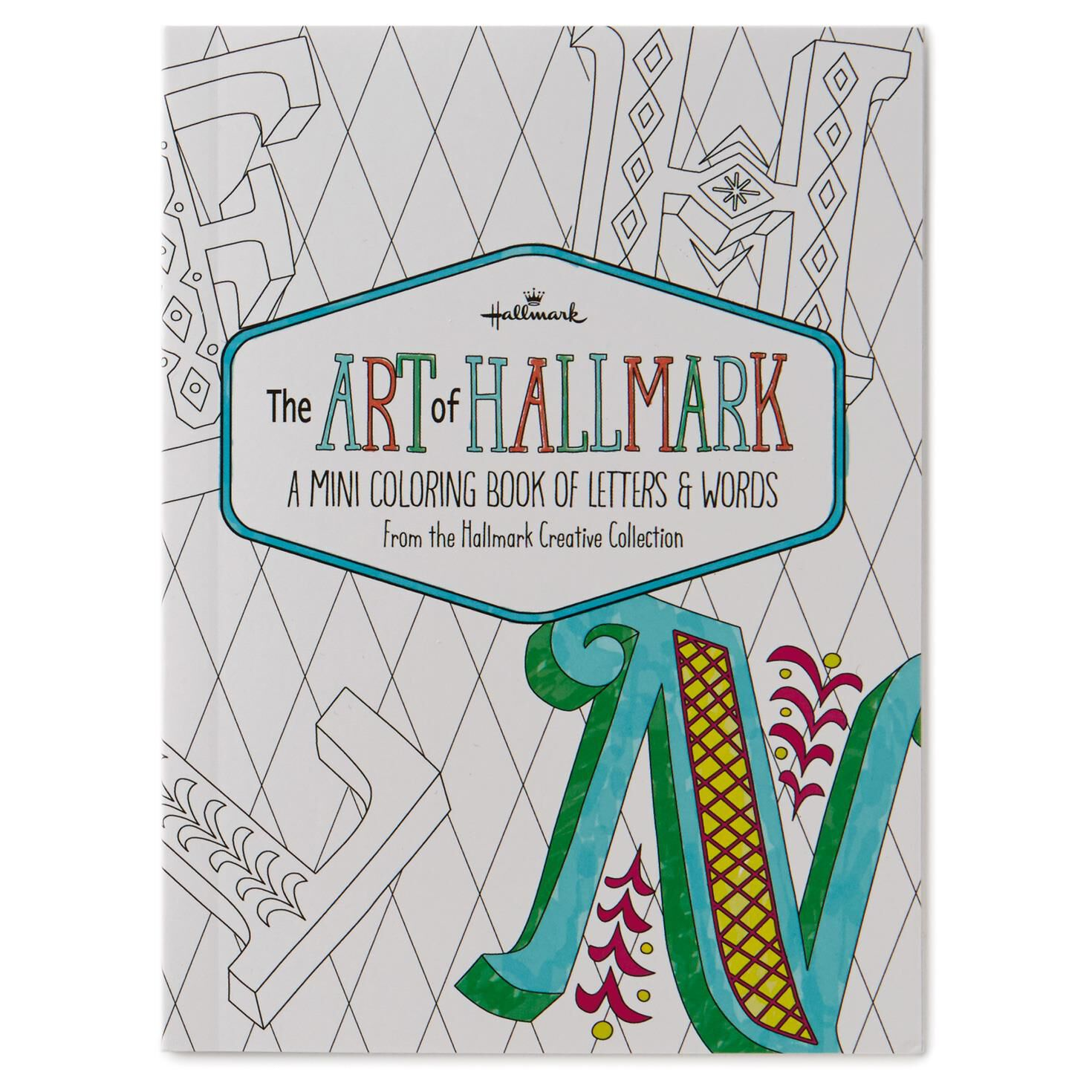 The Art of Hallmark, A Mini Coloring Book of Letters & Words ...