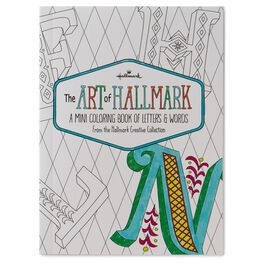 The Art of Hallmark, A Mini Coloring Book of Letters & Words, , large
