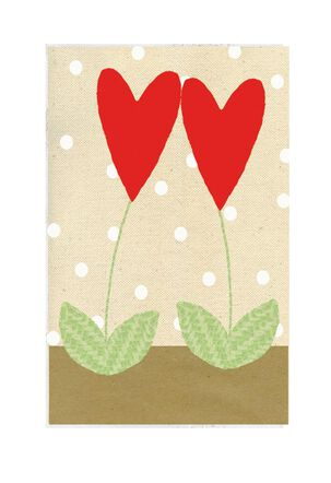 Heart Flowers Valentine's Day Card for Couple
