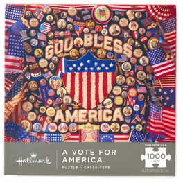 A Vote for America Patriotic 1000-Piece Jigsaw Puzzle, , large