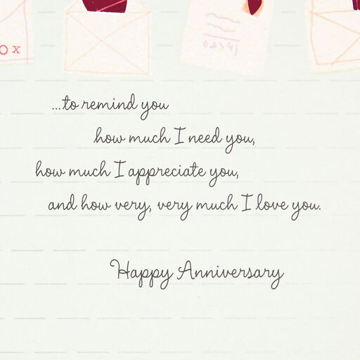 1 year anniversary letter for him