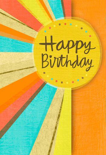 Sun Rays Birthday Card