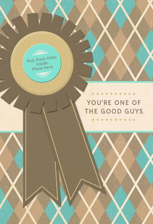 Good Guy Award Father's Day Card for a Grandfather