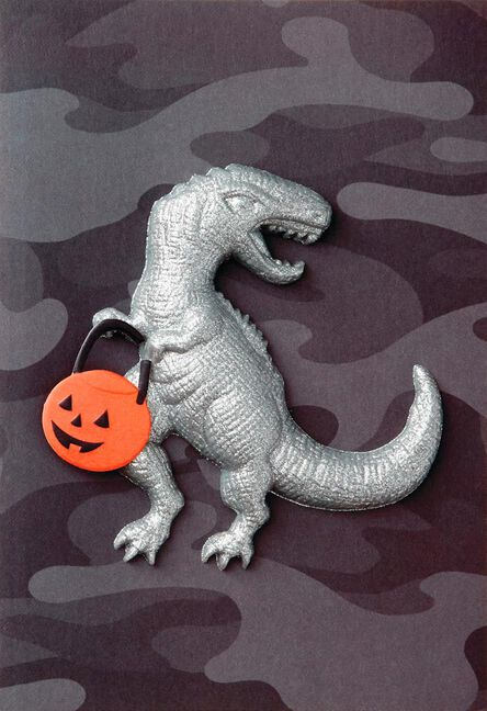 t rex halloween card greeting cards hallmark