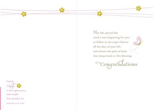 New Beginning Confirmation Card,