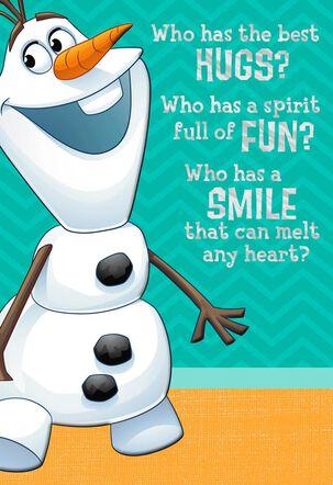 Disney Frozen Olaf Birthday Card With Mirror