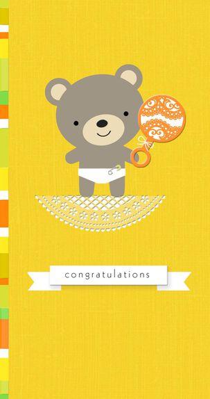 Baby Bear Money Holder New Baby Card