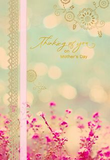 Comforting Flowers in Meadow Mother's Day Card,