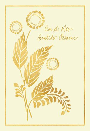 A Wish for Peace and Comfort Spanish-Language Sympathy Card