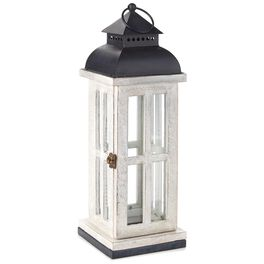 "Weathered Wood & Metal Lantern, 18"", , large"