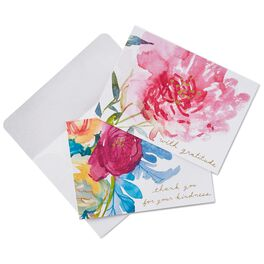 Watercolor Flowers Thank You Notes, Box of 50, , large