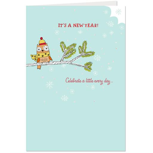 good times and good cheer new year card