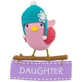 Winter Bird Daughter Ornament, , large