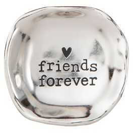 Natural Life Friends Forever Silver Mini Trinket Tray, , large