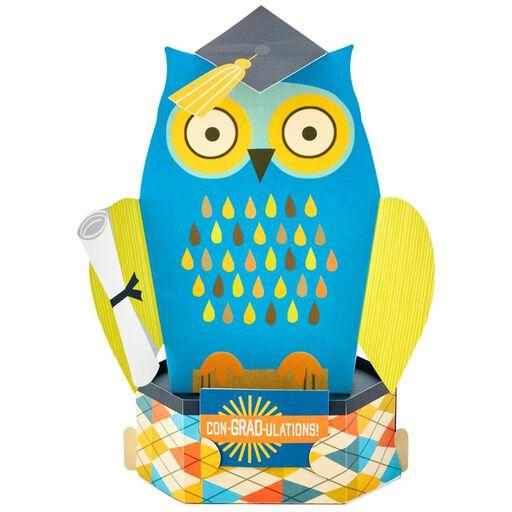 Con GRAD Ulations Owl Pop Up Graduation Card