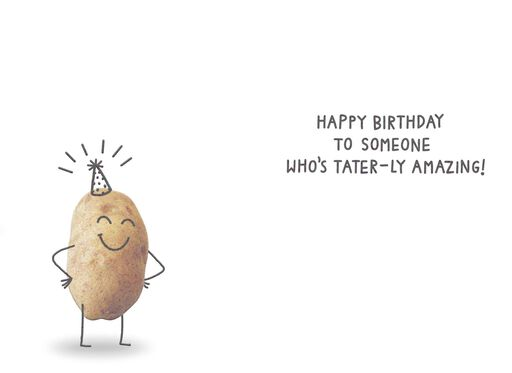 Best Spuds Potato Funny Birthday Card,