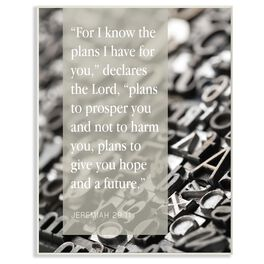Plans For You Wall Plaque, 8x10, , large