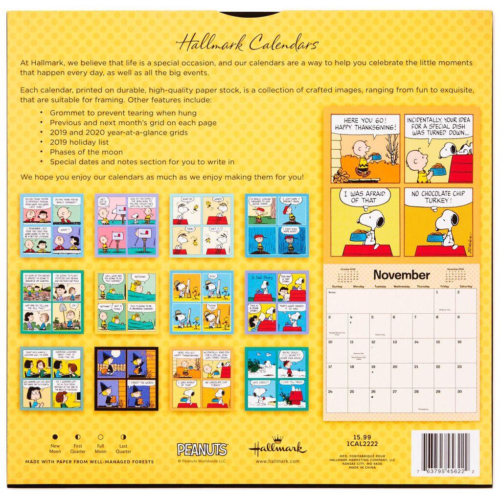 Peanuts® 2019 Wall Calendar, 12-Month - Calendars - Hallmark