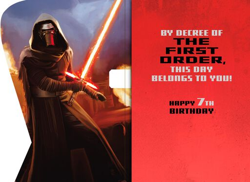 Star Wars™ Kylo Ren™ Musical 7th Birthday Card,