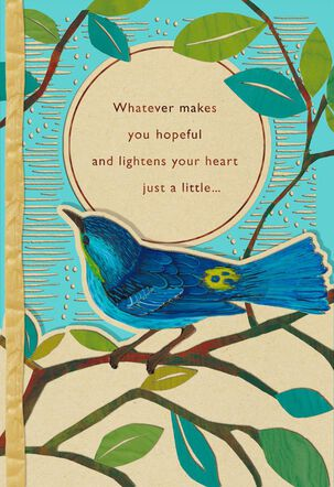 Bluebird on Branch Encouragement Card