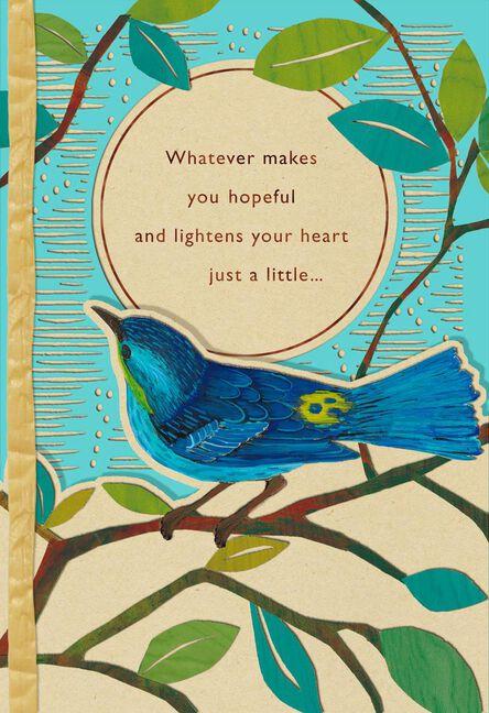 Bluebird on branch encouragement card greeting cards hallmark bluebird on branch encouragement card m4hsunfo