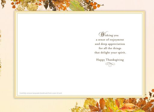 Gratitude Is What Happens When We Notice Our Blessings Thanksgiving Card With Bookmark,