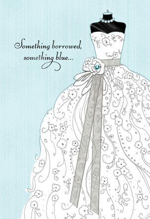 Something Borrowed, Something Blue Wedding Card